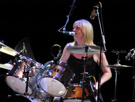 Bangles drummer Debbie Peterson, also looking fantastic. - ANNIE ZALESKI