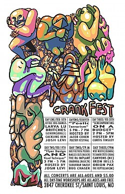 Screenprint artist Curtis Tinsley will share the secrets of screenprinting on a budget on Sunday at Crankfest.