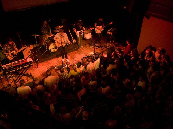 Frightened Rabbit at the Old Rock House last night. See more Frightened Rabbit photos here. - PHOTO: JON GHITCHOFF