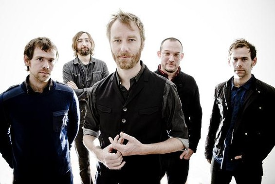 The National. Bryce Dessner is on the far right. - KEITH KLENOWSKI