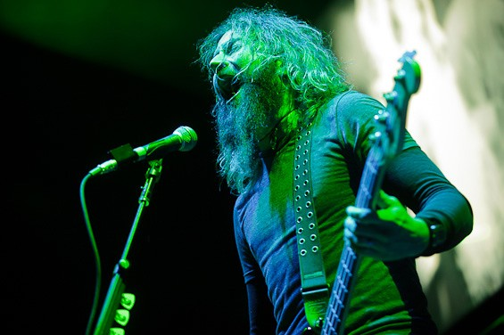 Mastodon performing at the Scottrade Center. Click here for more pictures from the BlackDiamondSkye tour. - TODD OWYOUNG