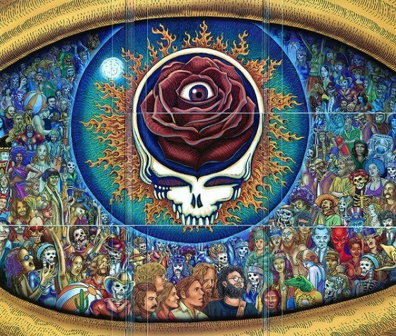 The cover art of the Grateful Dead's Winterland 1973: The Complete Recordings three-LP set - DON LAVANGE VIA FLICKR