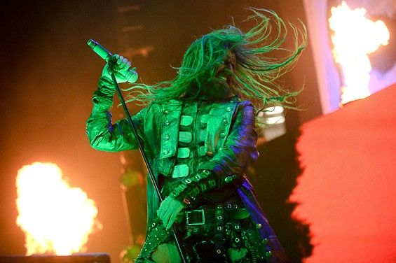 Rob Zombie at the Family Arena. Click here for a full slideshow from the Gruesome Twosome. - TODD OWYOUNG
