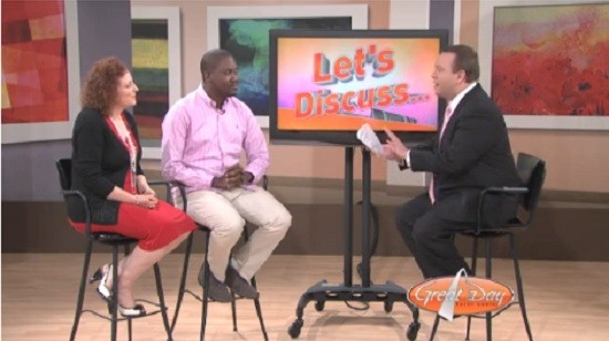Screenshot from Thursday's episode of KMOV's Great Day St. Louis.