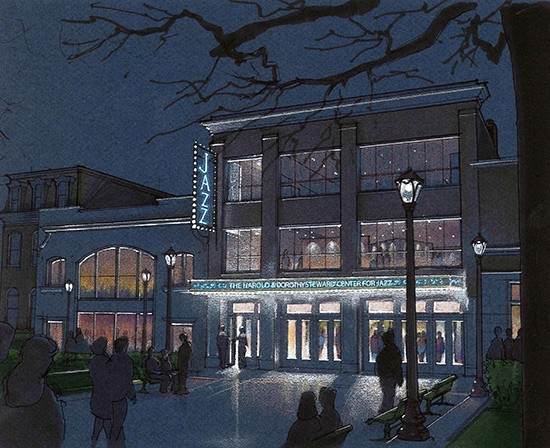 A rendering of Jazz at the Bistro's upcoming redesign. - THE LAWRENCE GROUP