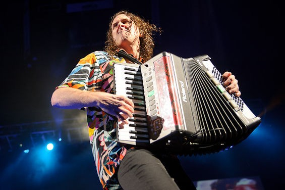 Weird Al returns to St. Louis on June 28. Click here for more photos from his 2011 show at the Family Arena. - PHOTO BY TODD OWYOUNG