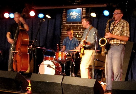 JD McPherson and band at the Duck Room - ROY KASTEN