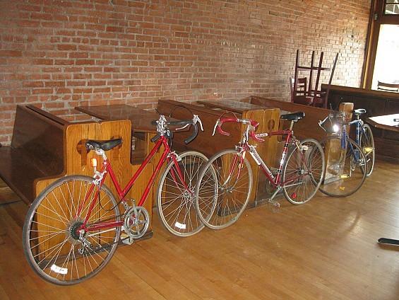 Bikes donated by BicycleWorks. - DIANA BENANTI