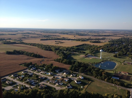 The view from the balloon. - COURTESY OF WADE DURBIN