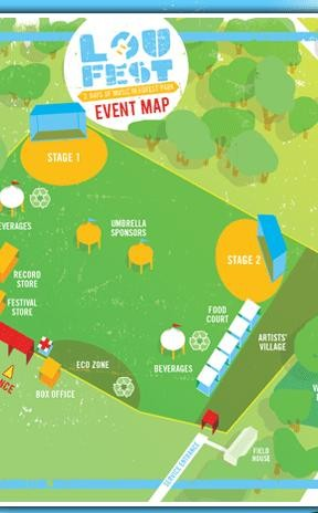 A proposed map of the event. - LOUFEST.COM