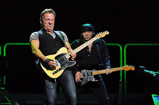 Bruce Springsteen last night at the Scottrade Center. View more photos from last night's show - PHOTO: MARK GILLILAND