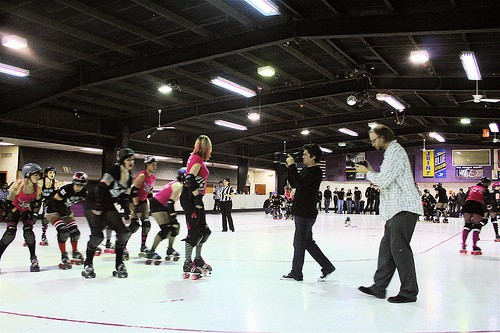 Arch Rival Roller Girls, in action