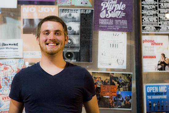Jake Leech, formerly known as Kid Counselor, outside Apop Records on Cherokee Street. - MABEL SUEN