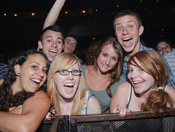 Giddy fans primed for the Passion Pit set last night at the Pageant. See a slideshow of last night's Passion Pit show at the Pageant. - PHOTO: JASON STOFF