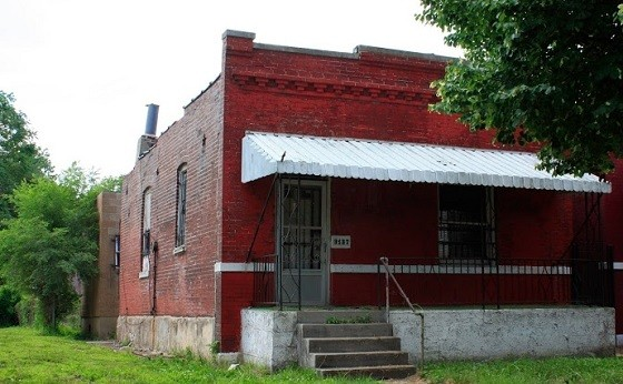 Berry would live in this home, now vacant and owned by the city, while penning his greatest hits. - CHRIS NAFFZIGER