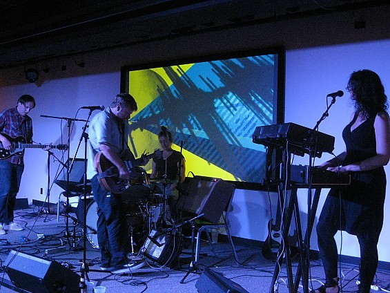 Canadian experimental indie outfit Frog Eyes waxed poetic last night at the Luminary Center for the Arts. - DIANA BENANTI