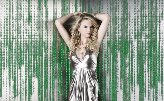 IMAGE OF TAYLOR SWIFT INSIDE THE MATRIX COURTESY OF BIG MACHINE RECORDS