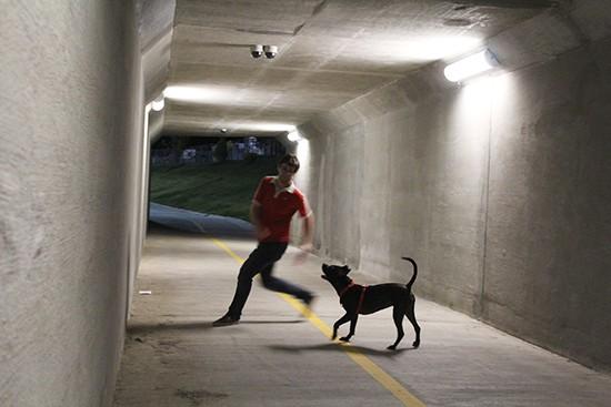Ryan and his dog.