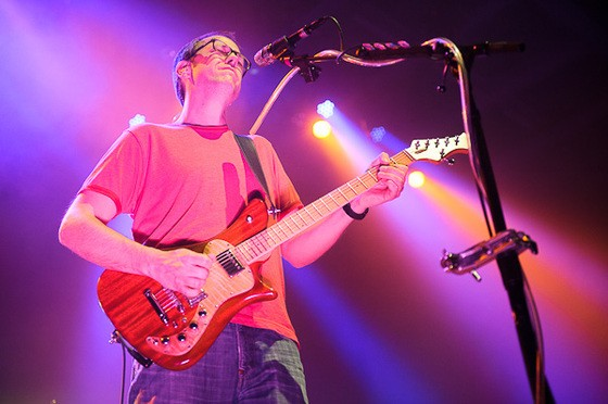 Chuck Garvey of moe. performing at the Pageant on February 16, 2012. - TODD OWYOUNG