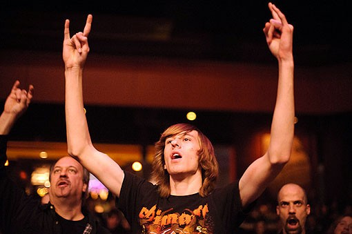An Anvil fan last night at the Pageant. See the full slideshow from last night here. - PHOTO: TODD OWYOUNG