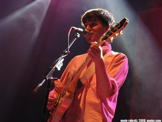 Vampire Weekend's Ezra Koenig, taken at the Pageant in 2008 - ANNIE ZALESKI
