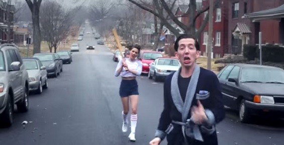 """""""She drinks malt liquor for lunch and dinner and sends me running scared."""" - SCREENSHOT FROM THE VIDEO."""