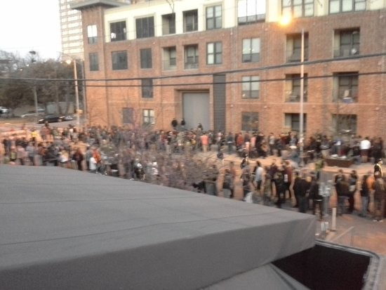 A shot of the line for the Mohawk earlier in the day on Wednesday. - GAVIN CLEAVER