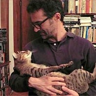 Azerrad with a furry fan - VIA THETALKHOUSE.COM