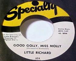 """Good Golly, Miss Molly"" on 45"