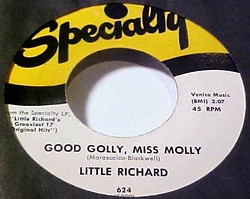 """Good Golly, Miss Molly"" on 45"