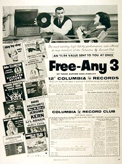 the Columbia Record Club, prior to its hip Bob Dylan days
