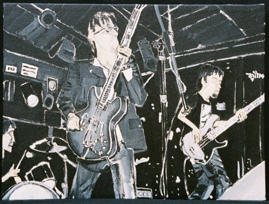 The Phonocaptors will ride again Friday night at Off Broadway. - PAINTING BY DANA SMITH.