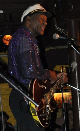 Chuck Berry was alive and very well last night at the Duck Room. - BOB KUSKY
