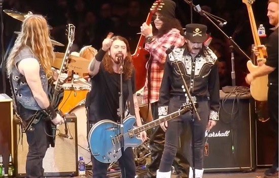 How much rock royalty can you fit on one stage? - SCREENGRAB VIA YOUTUBE
