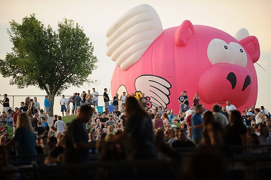 Look for the flying pig this weekend when El Monstero hits Art Hill. - TODD OWYOUNG FOR RFT