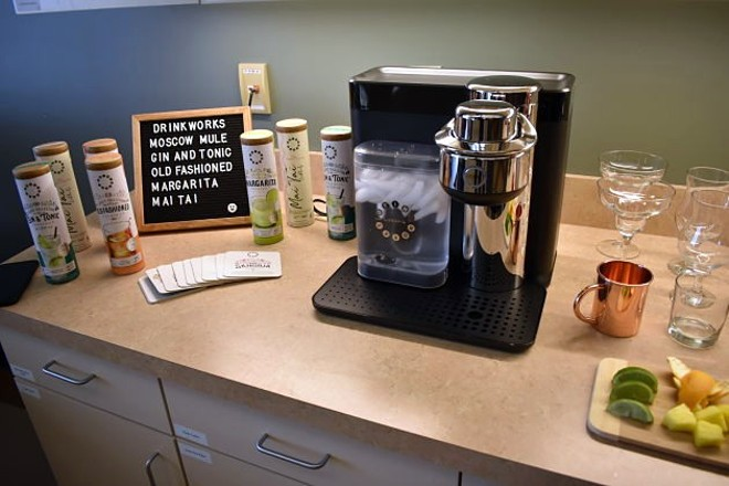 The machine is more or less a Keurig coffeemaker, but for lazy drunks. - DANIEL HILL