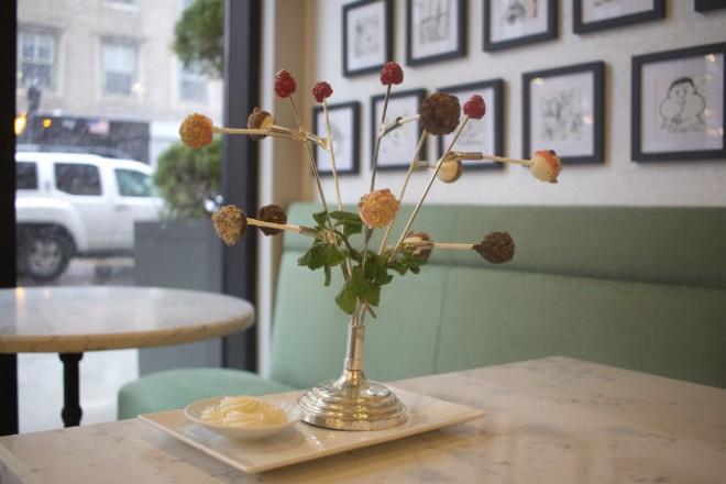 "The ""Cheesecake Lollipop Tree"" is a whimsical dessert. - CHERYL BAEHR"