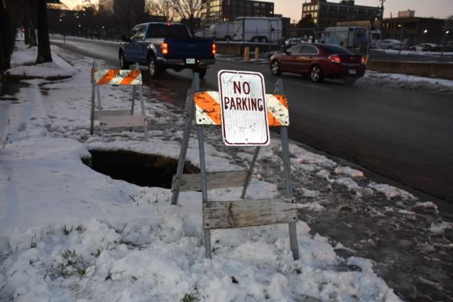 Please don't park on our sinkhole. - DOYLE MURPHY