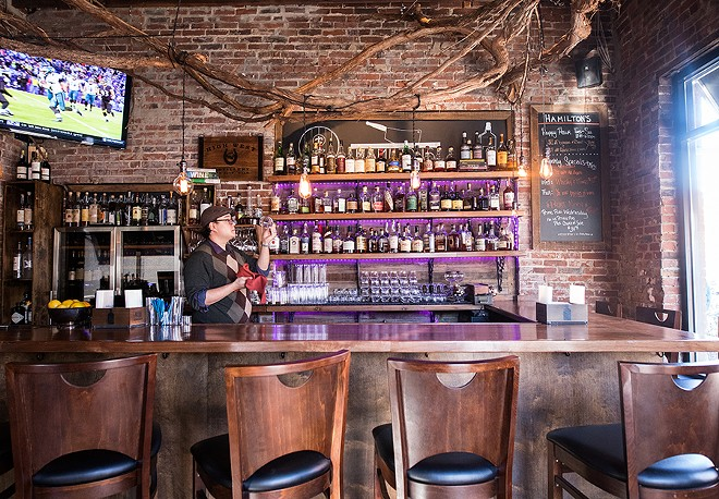The bar specializes in bourbon. - MABEL SUEN