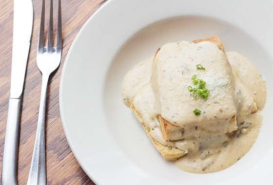 Wood-fired biscuits and gravy.