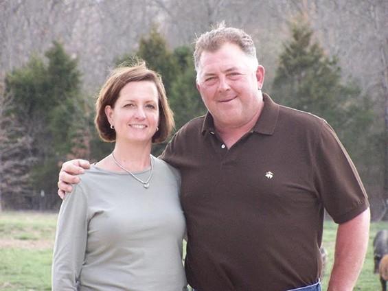 Marina and John Backes of Circle B Ranch.   Compliments of Marina Backes