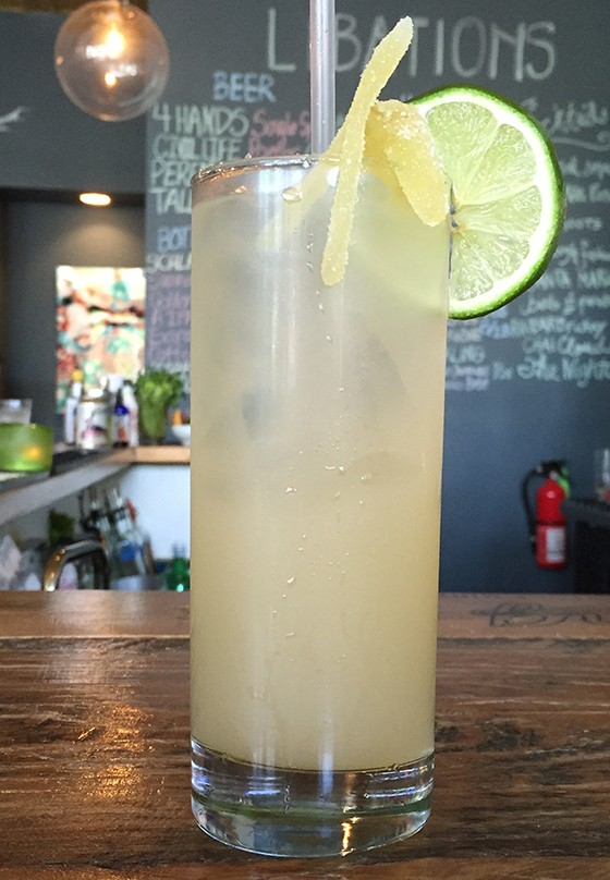 "The ""Rhubarb Rickey"" at Tree House. 