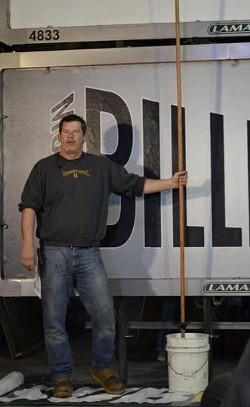 """Billposter Daniel """"Boone"""" Fuller. - COURTESY OF DANIEL FULLER"""