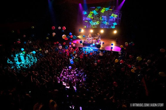 Matt and Kim return to the Pageant this Friday. See more photos from their 2011 show in RFT Slideshows. - PHOTO BY JASON STOFF