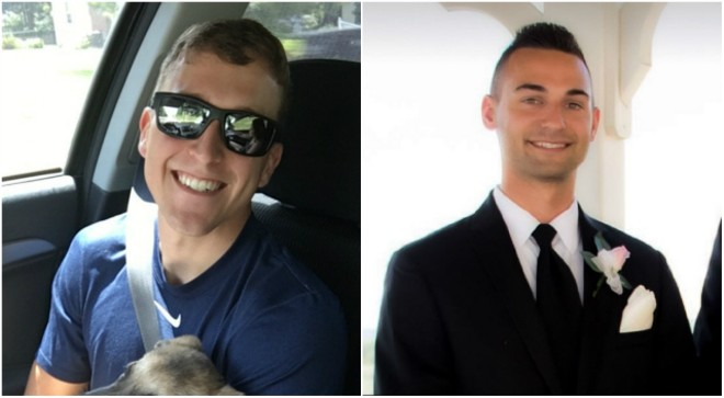 St. Louis County police officers Alex Maloy (left) and Mark Jakob were fired for allegedly misleading investigators. - COURTESY ST. LOUIS COUNTY POLICE ASSOCIATION