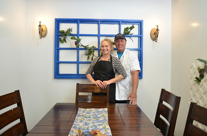 "Greek Kitchen owners Lisa Nichols and Joe Kandel moved their restaurant closer to the city and found a ""50-fold"" increase in job responses. - TOM HELLAUER"