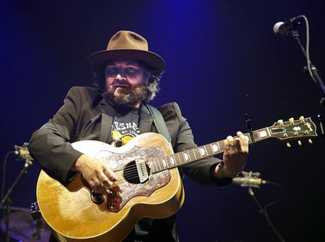 Jeff Tweedy performing at LouFest in 2013. - STEVE TRUESDELL