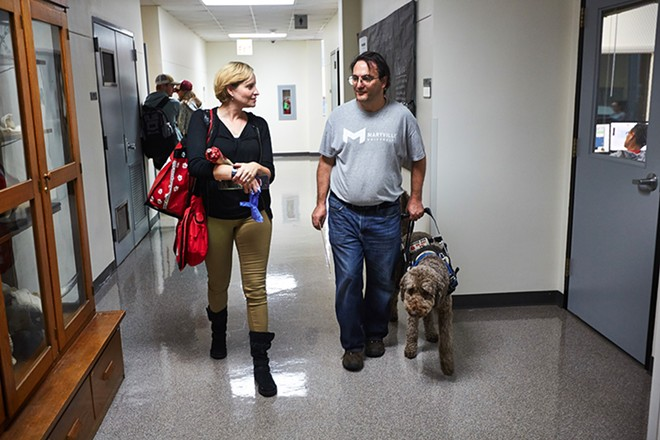Maryville professors Kyra Krakos and John Marino are wrapping up their fifth and final year of classes based on The Walking Dead and other works from the horror and fantasy genres. - THEO WELLING
