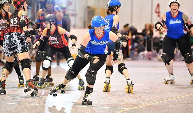 Saturday night is for roller derby. - BOB DUNNELL