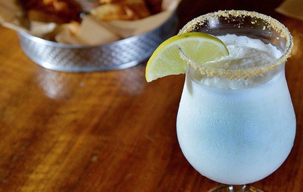 The key lime pie is a frozen rum cocktail with a crushed graham cracker rim. - TOM HELLAUER